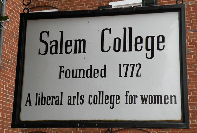Salem College Founded 1772